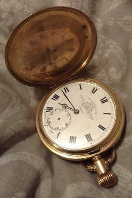 THOMAS RUSSELL POCKET WATCH ANTIQUE GOLD COLOURED Full Hunter