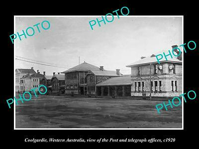 OLD LARGE HISTORIC PHOTO OF COOLGARDIE WESTERN AUSTRALIA, THE POST OFFICE c1920