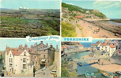 Greetings from Yorkshire - Multiview - Dennis Postcard 1975