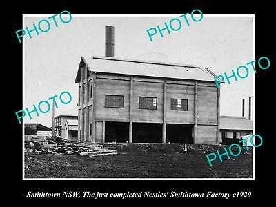 OLD LARGE HISTORICAL PHOTO OF SMITHTOWN NSW, VIEW OF THE NESTLES FACTORY c1920