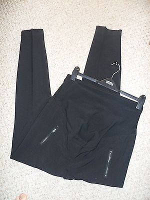 "NEXT ""Maternity"" Tailored Black Zip Detail Over The Bump Trousers Size 10L NEW"