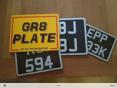 Number Plate Motorcycle Ultimate Quality 6x4 7x5 8x6 9x7 BIKE SHOW WINNER