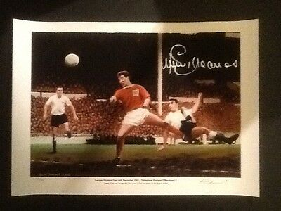 Signed Limited Edition Print 10/500 by Jimmy Greaves (Tottenham Debut)