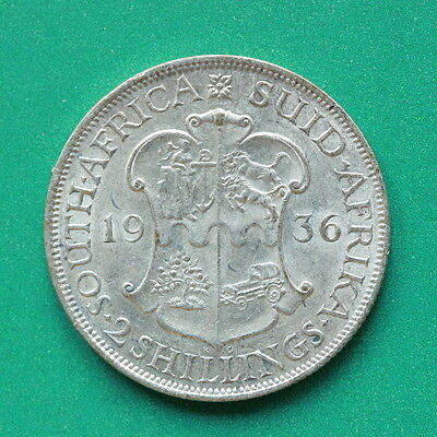 1936 South Africa Silver Two Shillings SNo43075