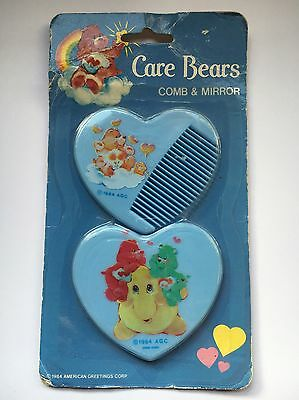 Care Bears - Mirror And Comb Set - Vintage 1980s - Toys - Merchandise