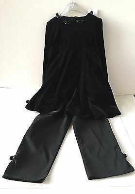 BLACK AND BEAUTIFUL SUIT BY LITTLE DARLINGS TO FIT A 5yr, SOFT VELOUR COMFY