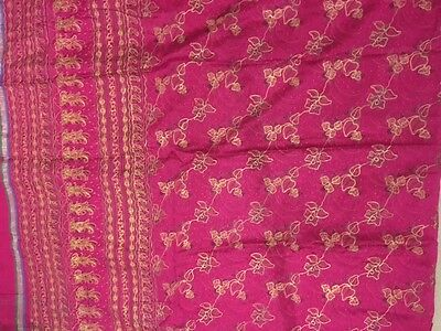 Cerise net sari with blouse size 36 chest