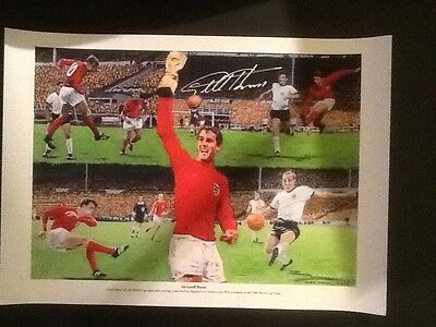 Signed Print by Geoff Hurst (1966 Word Cup)
