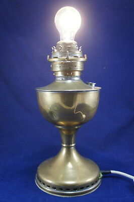 Upcycled Vintage Antique Table Oil Lamp electrical conversion