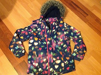 Girls next navy winter coat jacket size 11-12 years