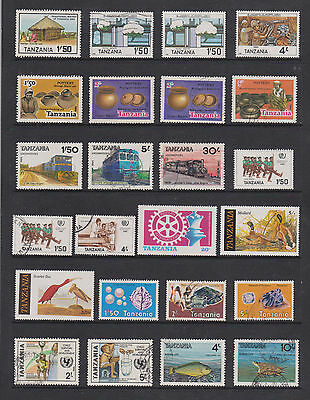 Collection Of M/m , Used Stamps From Tanzania , See Scans