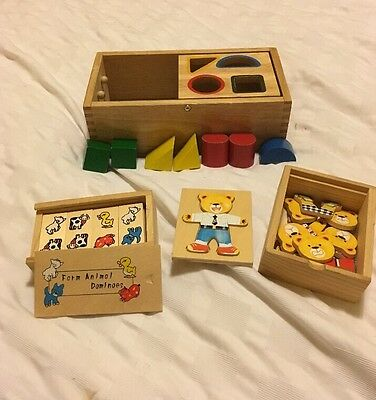 Bundle of Traditional Toys Wooden Toys Pre-School Baby Toys