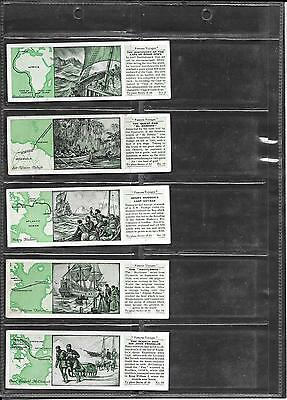 Typhoo Tea - Famous Voyages - 1934 - 5 Cards