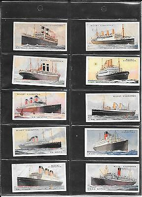 Will's - Merchant Ships Of The World  - 1924  - 10 Cards