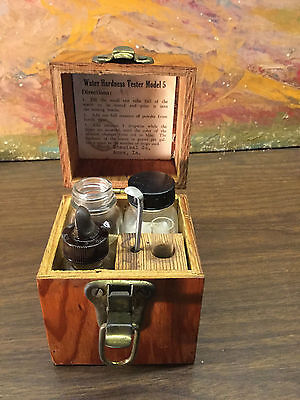 RARE ANTIQUE Vintage Water Hardness Test Kit Hach Chemical Co. Ames Iowa
