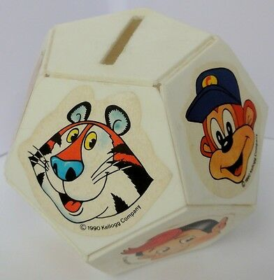 1990 KELLOGGS VARIETY CEREAL BOX x 2 ONE MINT WITH STICKERS