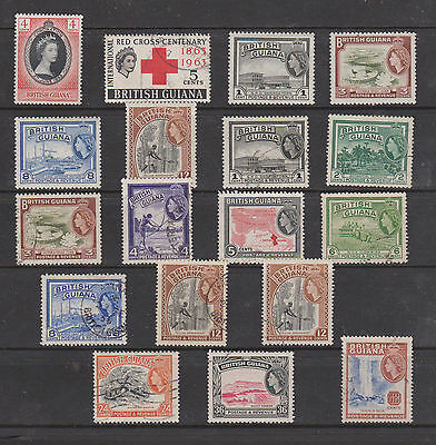 Collection Of Qe11 Stamps , Guiana , M/m Used ,  See Scan