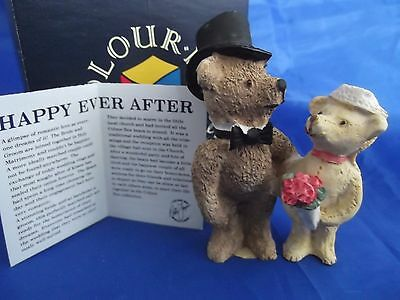 """Peter Fagan Colourbox teddy bears.  """"Happy Ever After"""" - TC027. Box and leaflet"""
