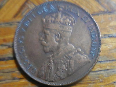 1920 George V Large Canadian One Cent Coin