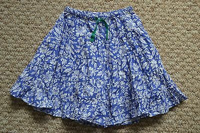 Lovely Mini Boden Girls Blue/White Floral Print Twirly Skirt 2-3 Years EUC