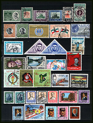 JORDAN 1953-91 : Varied selection MNH & used - all different.