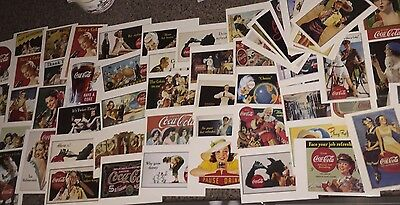 Lot Of 65 Coca-Cola Postcards Unused Old Advertising Ads Signs