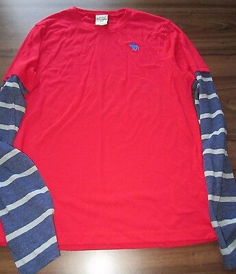 Abercrombie & Fitch Kids XL (age 13 approx) long sleeved t-shirt red