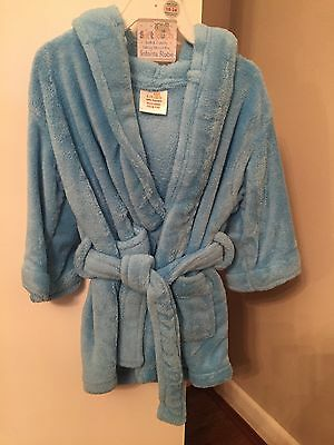 Brand New Hooded Soft Touch Blue Boys Dressing Gown - 18-24 Months