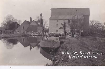 RP ALDERMASTON OLD WATERMILL MILL GUEST HOUSE REAL PHOTO  BERKSHIRE c1912