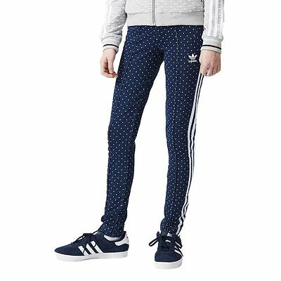 Adidas Originals Junior Girls Denim Leggings AJ0057 Dance Wear Sportswear