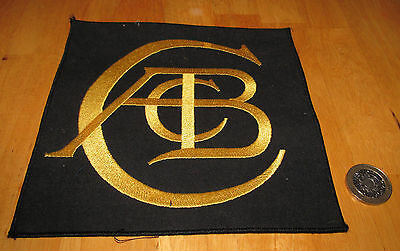 Unusual and Rare Anthony Colin Bruce Chapman Lotus Logo large patch - black/gold
