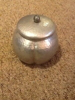 Vintage Hammers Aluminum Trinket / Candy Dish With Lid