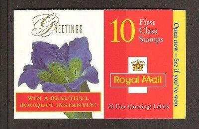 1997 FLOWERS 1st CLASS GREETINGS BOOKLET. SG No. KX9 FACE VALUE £6.40 ONLY £5