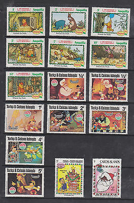 Colourful Collection Of Cartoon Stamps , See Scans