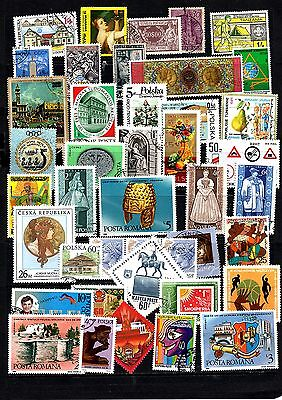 Thematics 40 all Different Collection 14 World Wide Plus 2 Sheets
