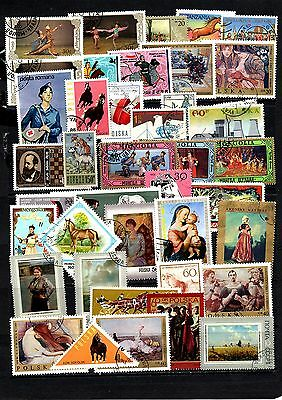Thematics 40 all Different Collection 15 World Wide Plus 2 Sheets
