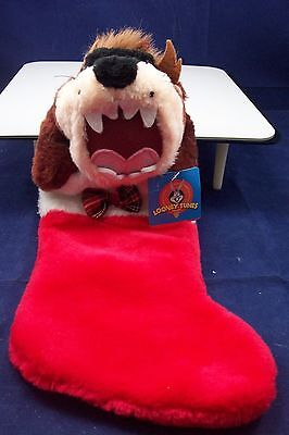 Looney Tunes Warner Bros Taz Christmas Stocking New With Tag
