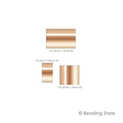 14ct Rose Gold Filled Crimp Beads Cut Tube Bead Beading Various Sizes Packages