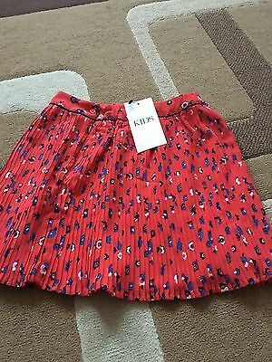 M & S Girls Floral Skirt Age 6/7 New