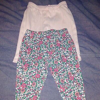 Lot of 2 Baby Gap/Carters Baby Girl Pants 3-6 Mos
