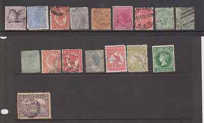 AUSTRALIA Old Stamps Queen Victoria onwards, two ROOs  BARGAIN