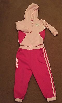 Lonsdale Girls Pink Tracksuit Age 3-4 Brand New