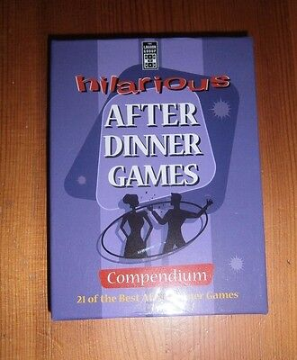 Hilarious After Dinner Games Cards Compendium NEW
