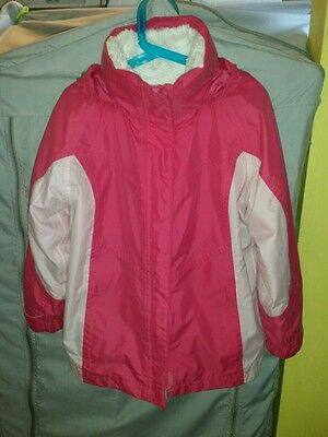 Girls Warm Winter Ski Jacket Age 7 - 8 By Peter Storm
