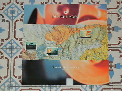 """DEPECHE MODE - Never Let Me Down Again (Split Mix) FRENCH 12"""" P/S 1987 Mute"""