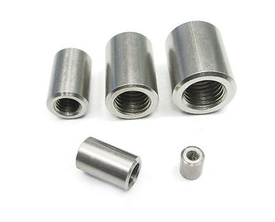 Select Size M10 Round Fine Threaded Rod Coupling Nuts 304 Stainless Steel