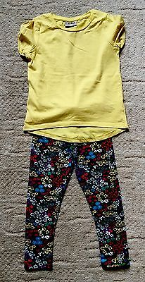 Girls Next Stunning Ditsy Leggings And Tshirt Set 3-4 Worn Once ��