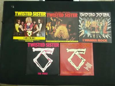 """Job Lot Of 5 Twisted Sister 7"""" Vinyl Record Singles All Listed All Excellent"""