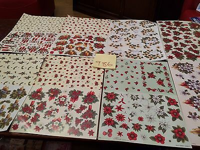 8 Christmas decoupage sheets ref986