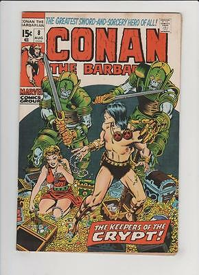 High Grade Marvel Comic: 1971 Conan the Barbarian #8 Keepers O/T Crypt   (N-045)